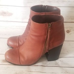 Vince Camuto Brown Booties Size: 8.5